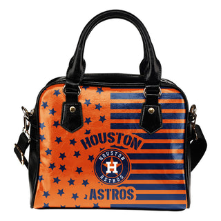 Twinkle Star With Line Houston Astros Shoulder Handbags