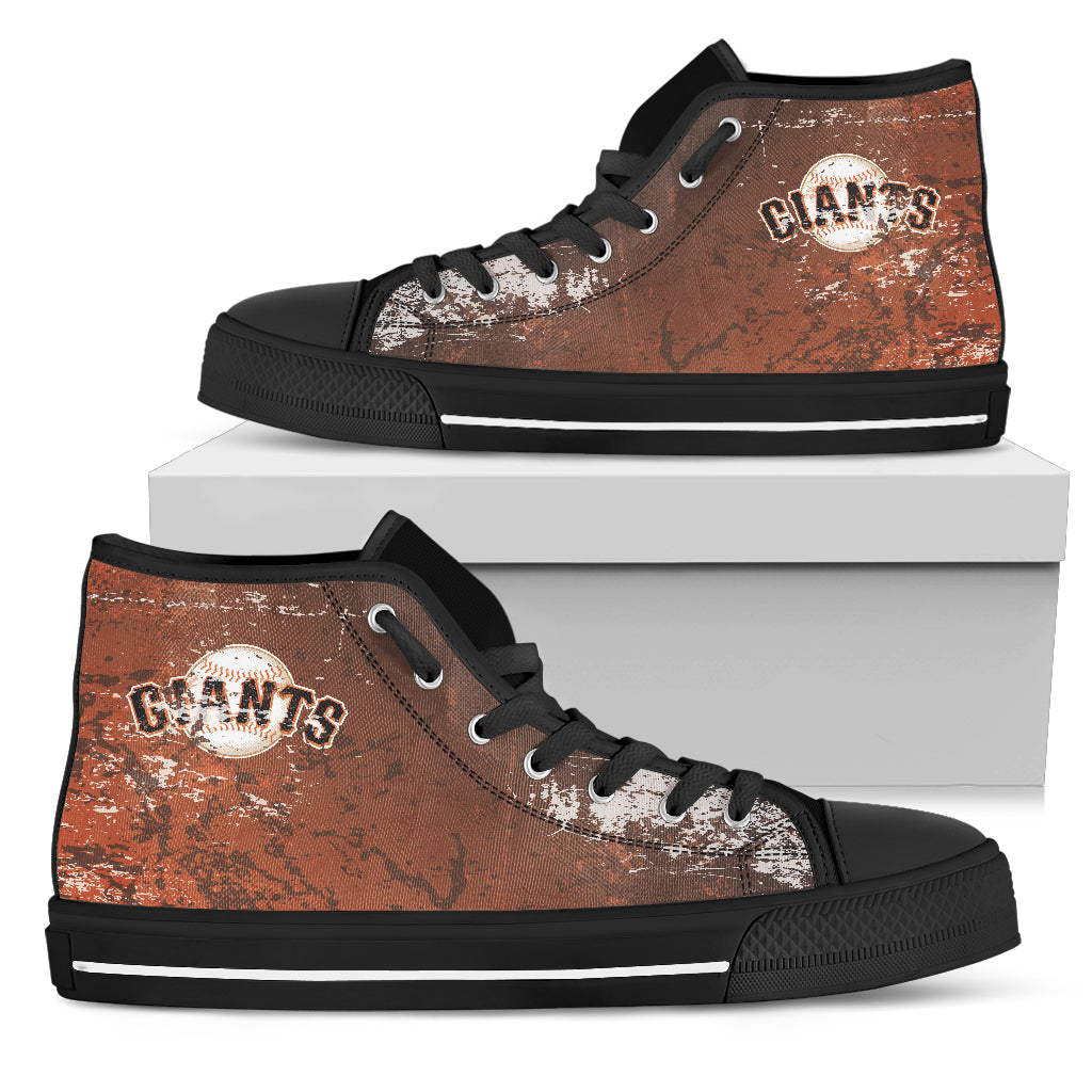 Grunge Vintage Logo San Francisco Giants High Top Shoes