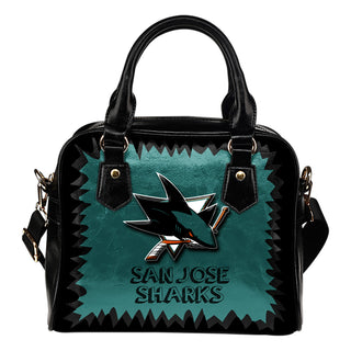 Jagged Saws Mouth Creepy San Jose Sharks Shoulder Handbags