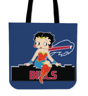 Wonder Betty Boop Buffalo Bills Tote Bags