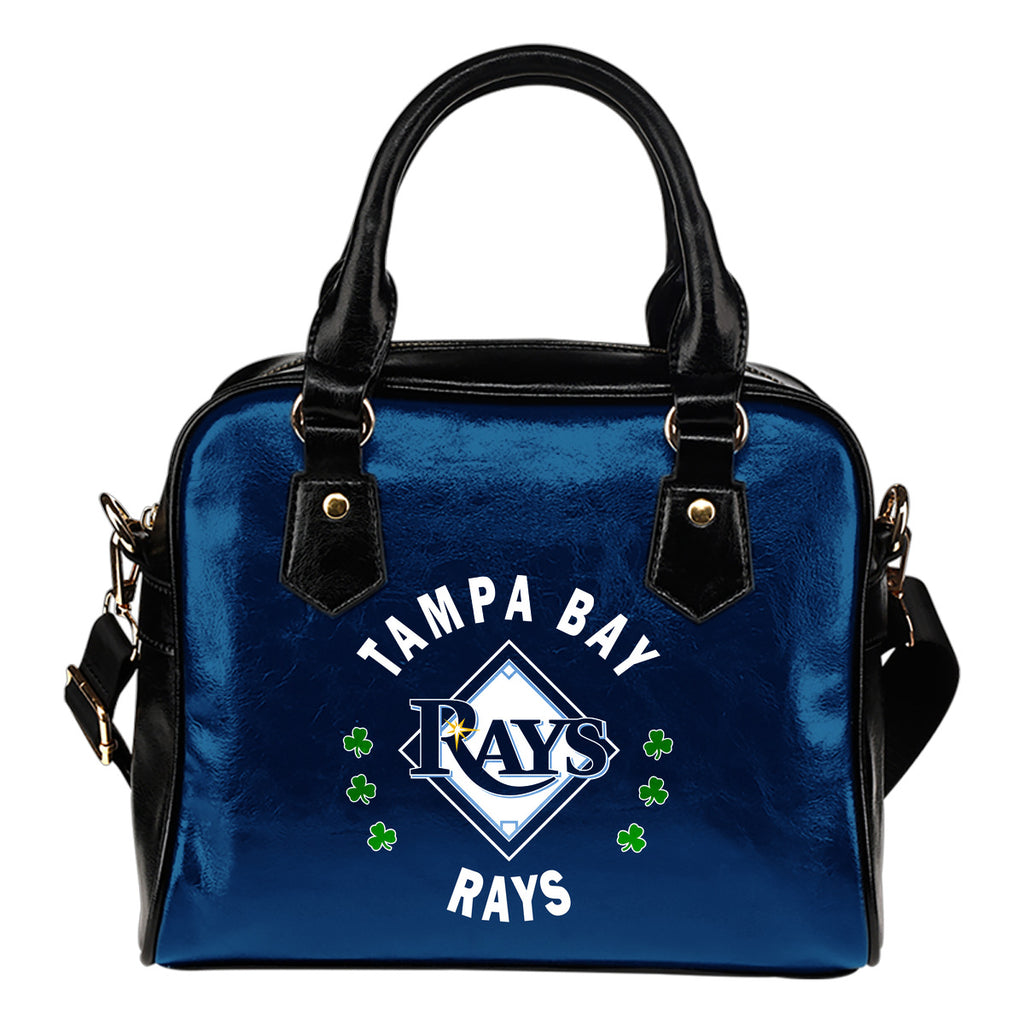 Central Beautiful Logo Circle Lucky Leaf Tampa Bay Rays Shoulder Handbags