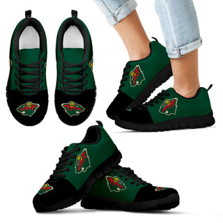 Two Colors Aparted Minnesota Wild Sneakers