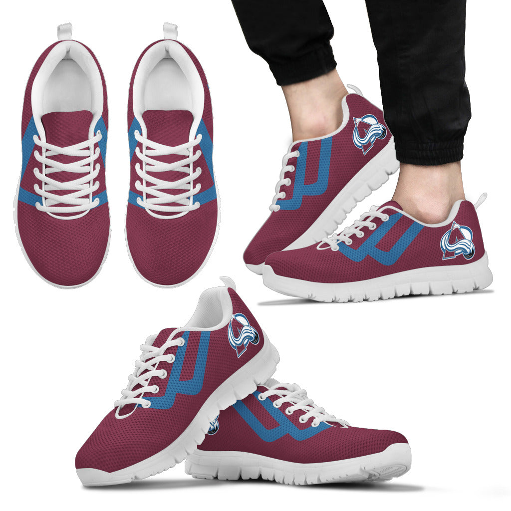 Line Bottom Straight Colorado Avalanche Sneakers