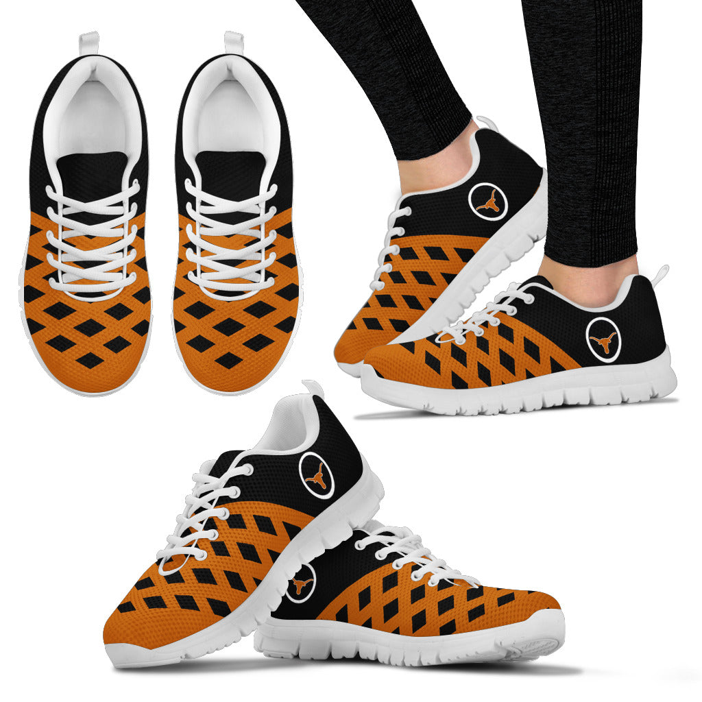 Two Colours Cross Line Texas Longhorns Sneakers