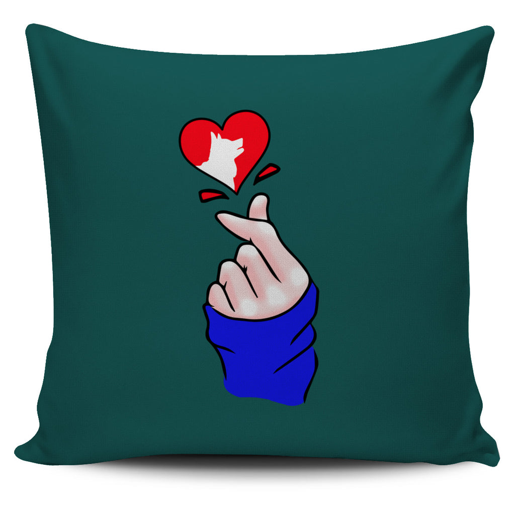 Heart Shape Husky Pillow Covers