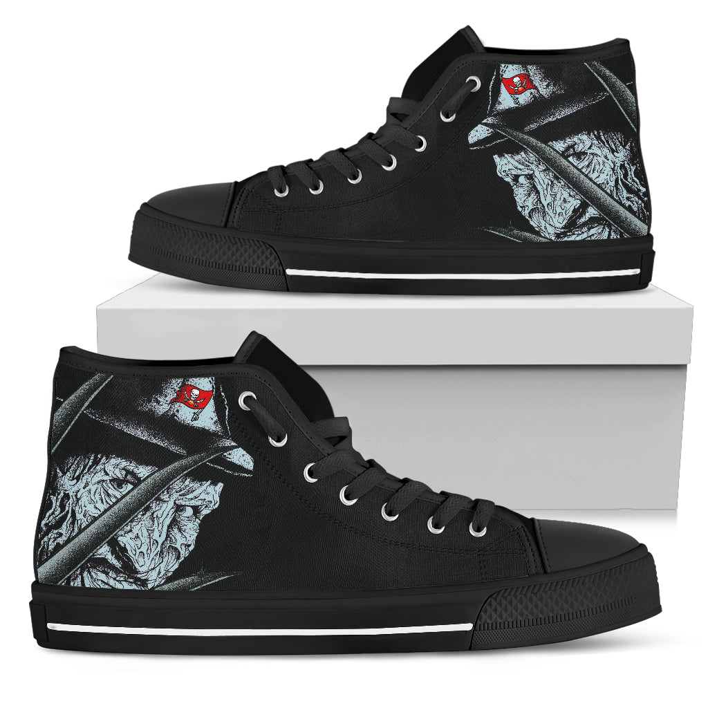 Tampa Bay Buccaneers Nightmare Freddy Colorful High Top Shoes