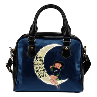 I Love My Seattle Seahawks To The Moon And Back Shoulder Handbags - Best Funny Store