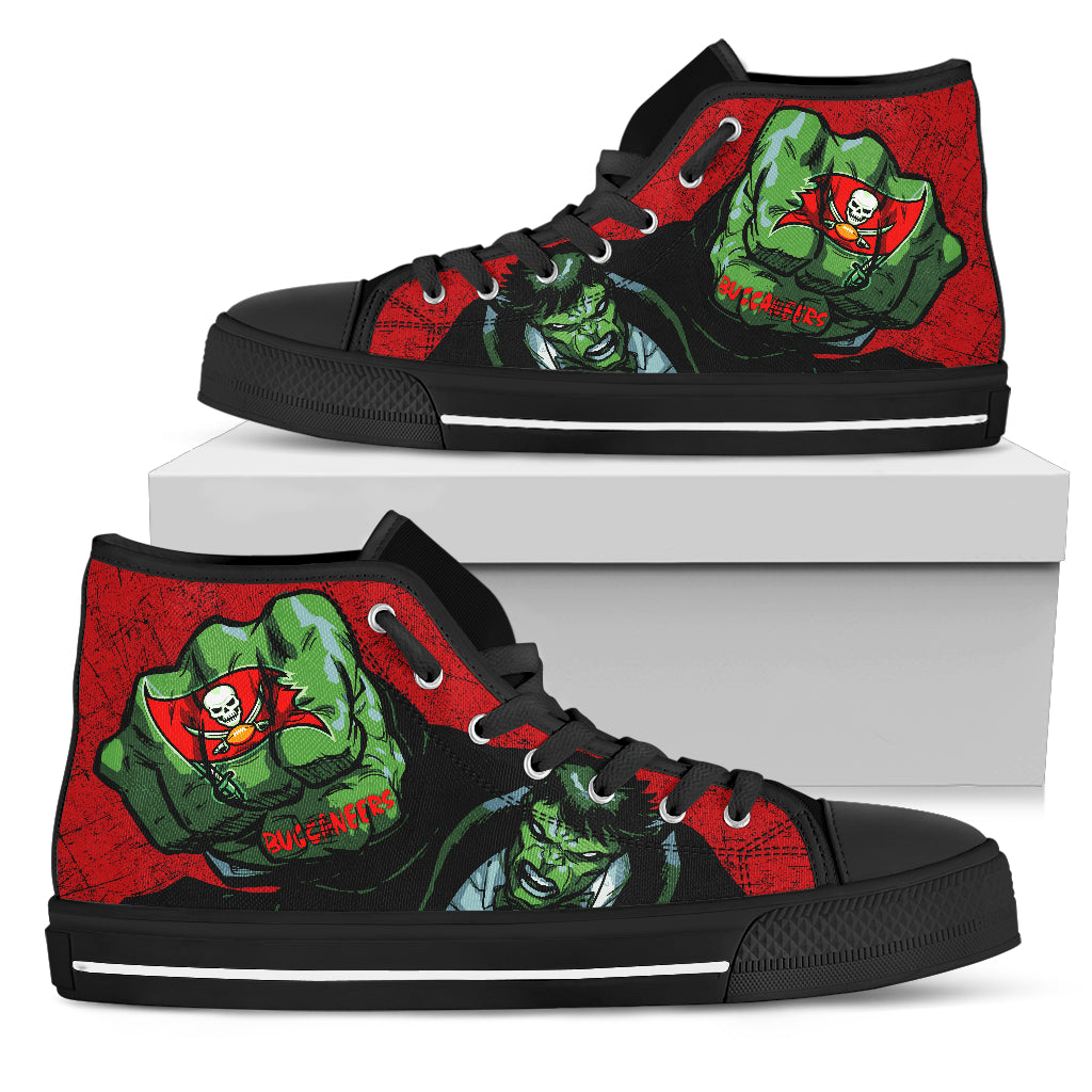 Hulk Punch Tampa Bay Buccaneers High Top Shoes