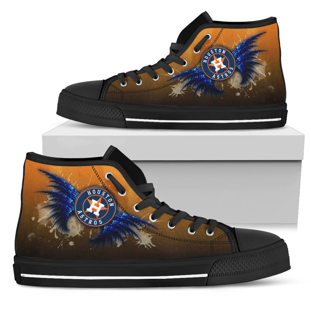 Angel Wings Houston Astros High Top Shoes