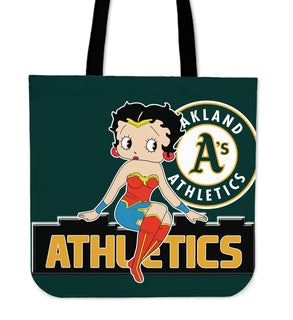 Wonder Betty Boop Oakland Athletics Tote Bags
