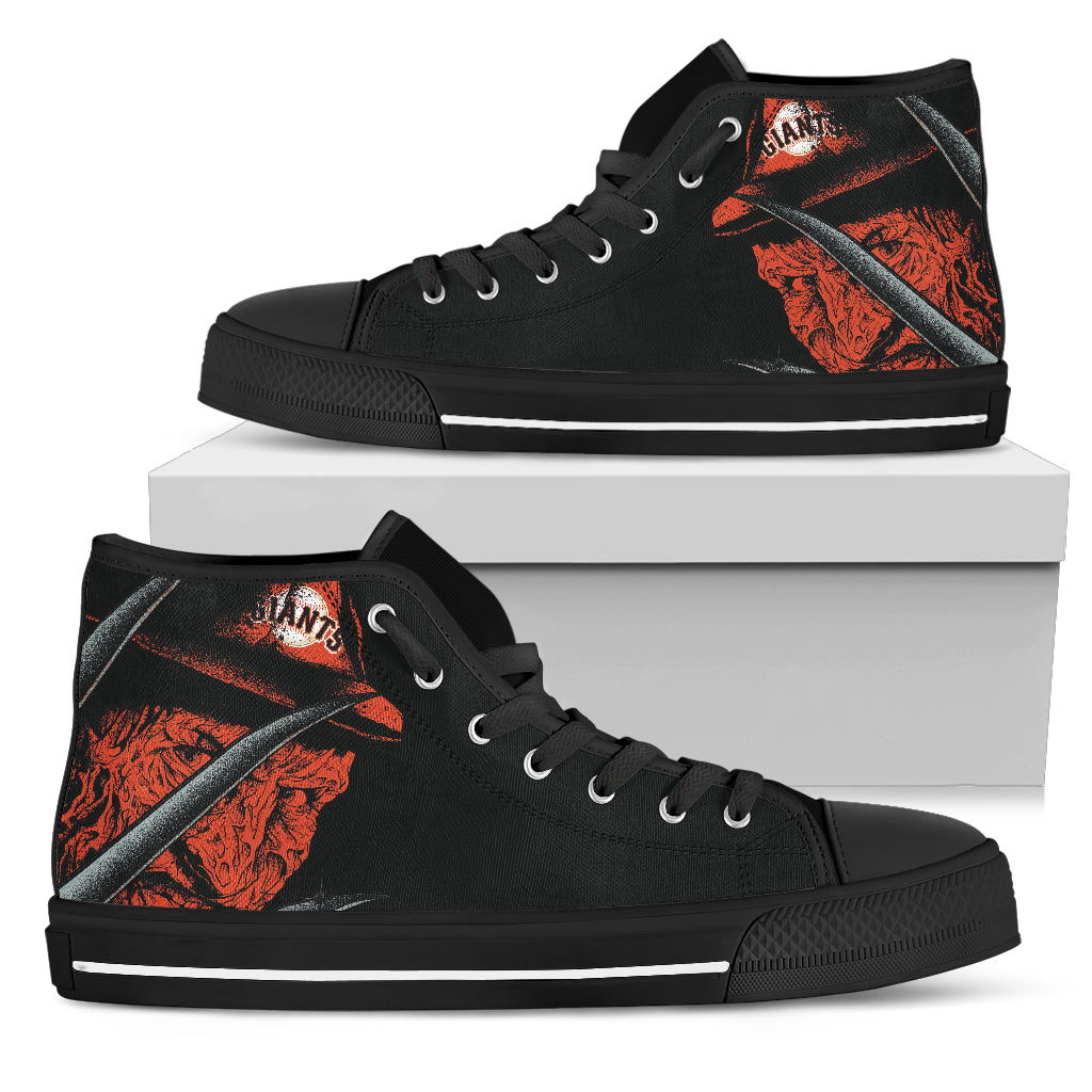 San Francisco Giants Nightmare Freddy Colorful High Top Shoes