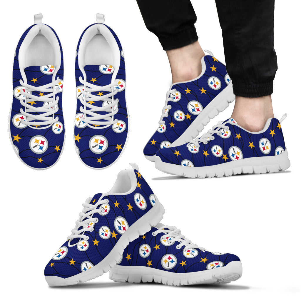Star Twinkle Night Pittsburgh Steelers Sneakers