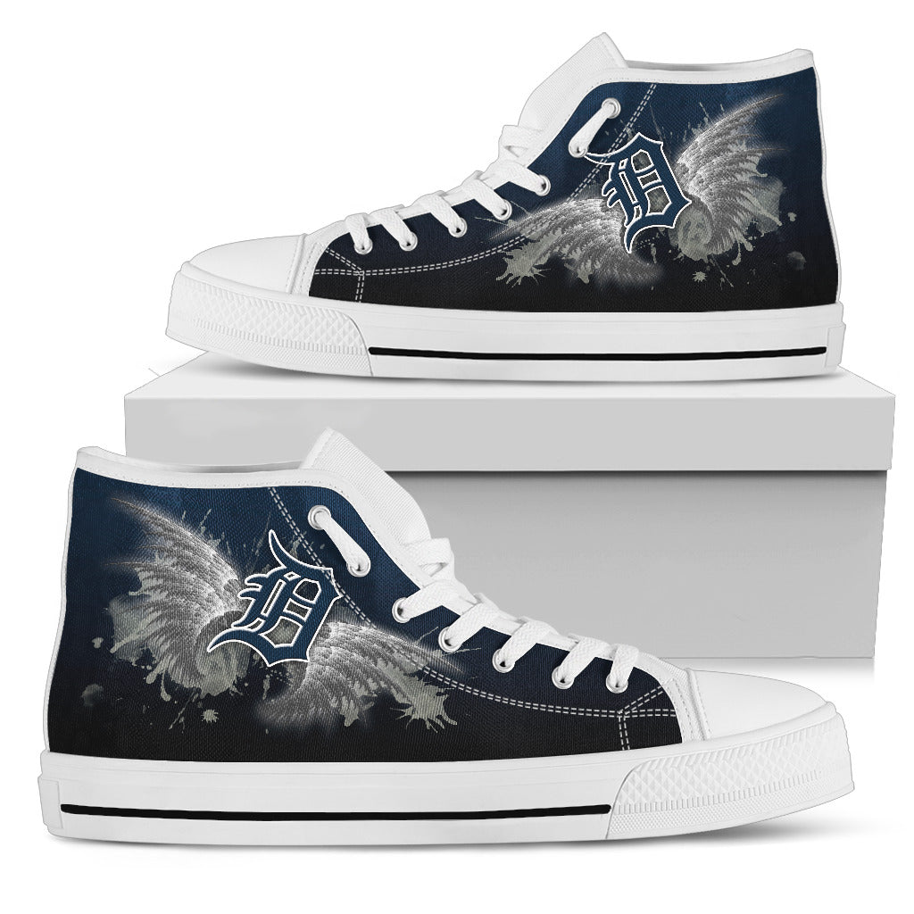 Angel Wings Detroit Tigers High Top Shoes