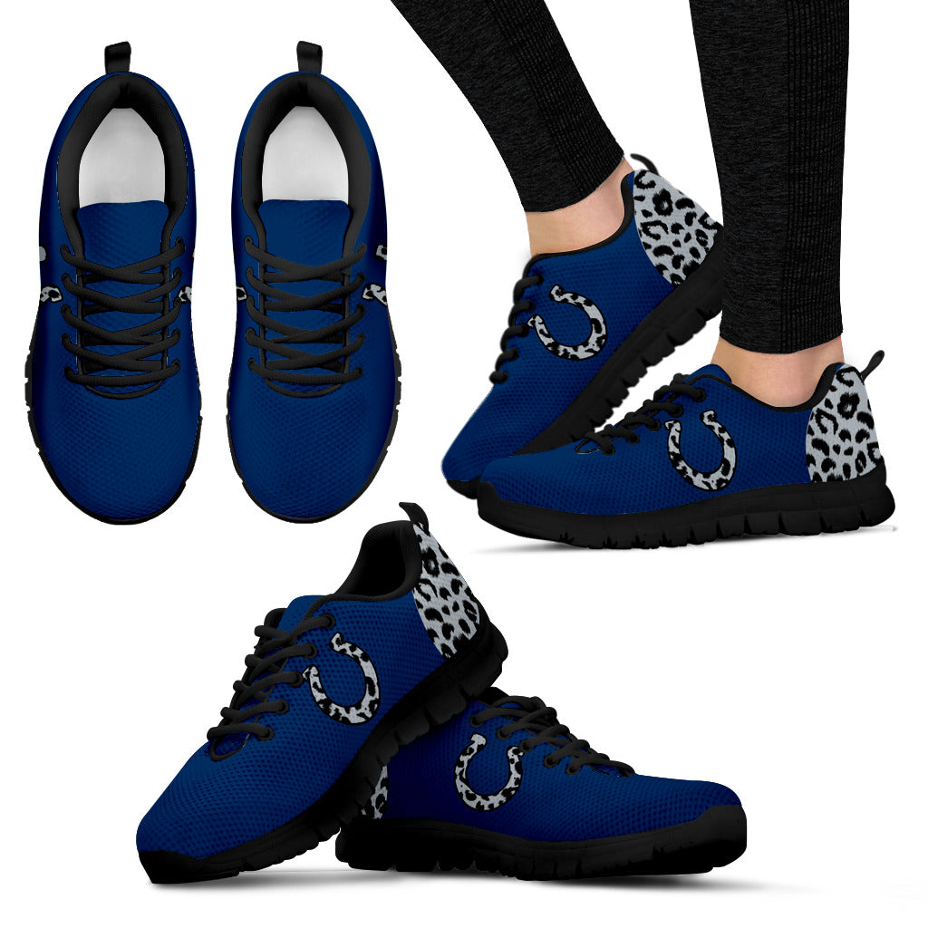 Cheetah Pattern Fabulous Indianapolis Colts Sneakers