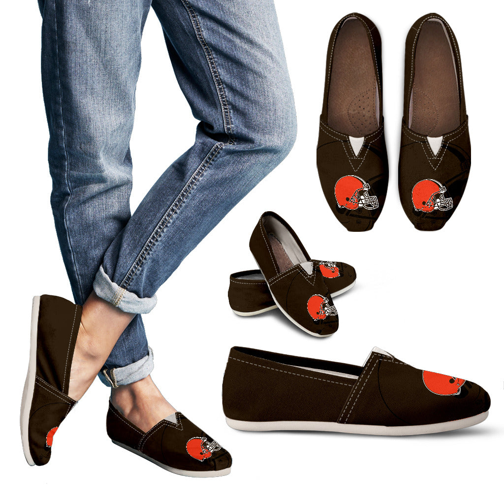 Enormous Logo Mix Tiny Logo Fantastic Cleveland Browns Casual Shoes
