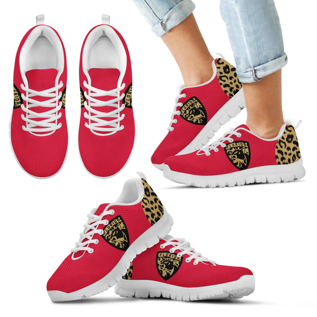 Cheetah Pattern Fabulous Florida Panthers Sneakers