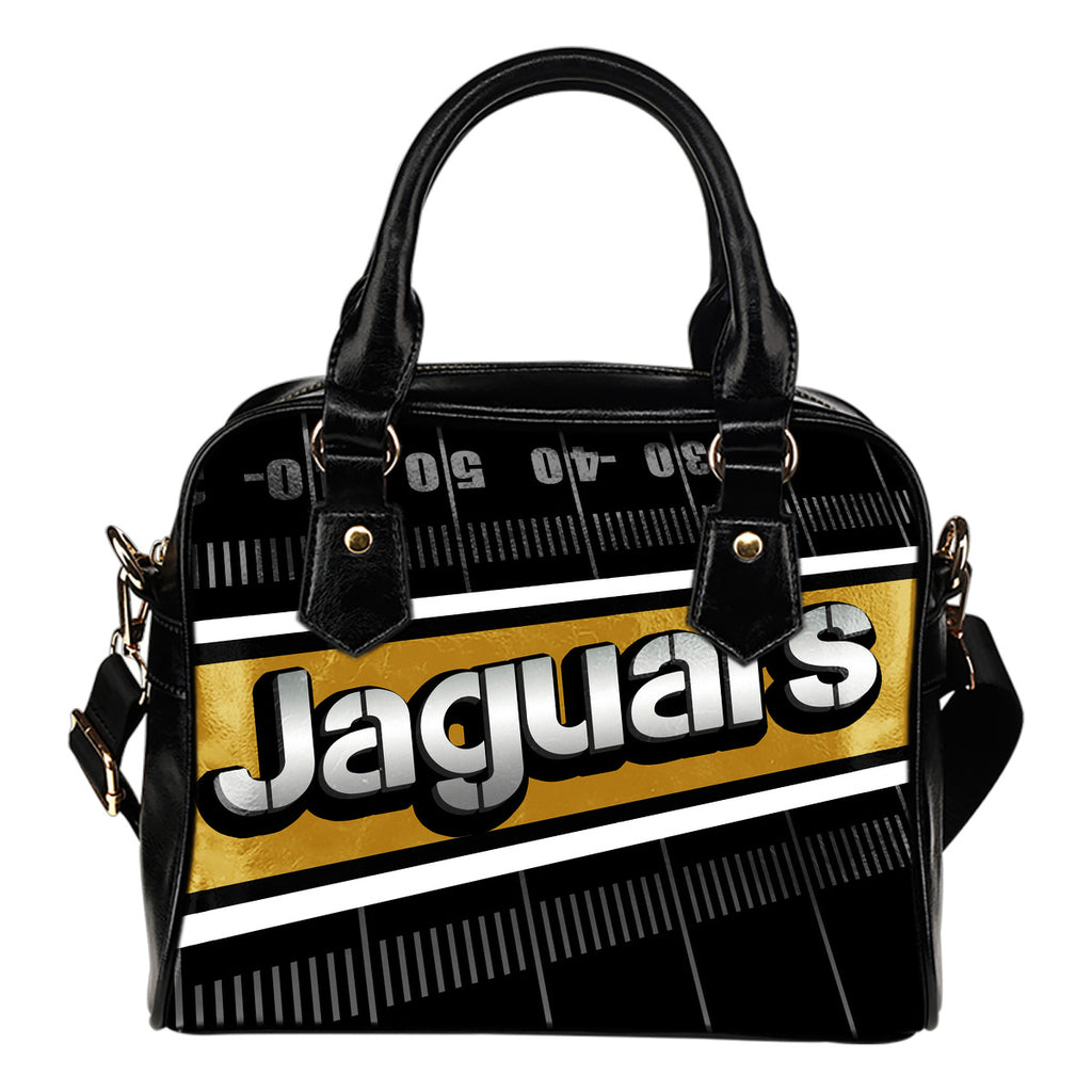 Jacksonville Jaguars Silver Name Colorful Shoulder Handbags