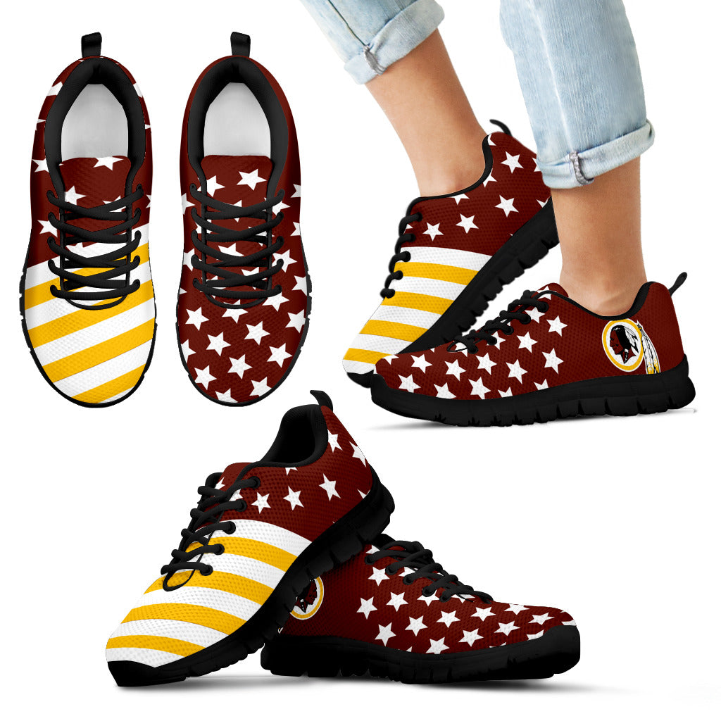 America Flag Full Stars Stripes Washington Redskins Sneakers