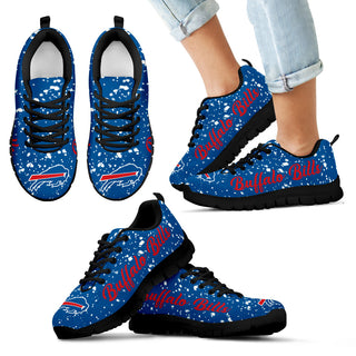 Christmas Snowing Incredible Pattern Buffalo Bills Sneakers