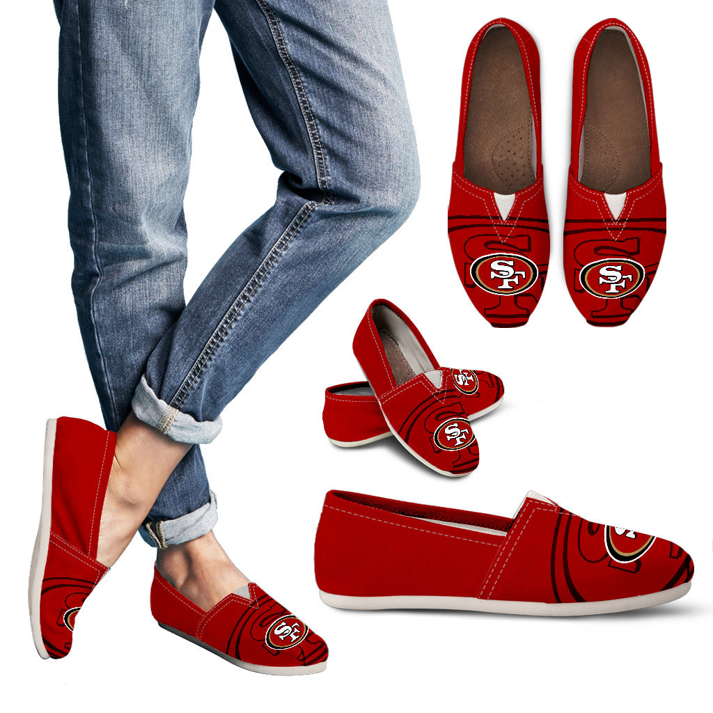 Enormous Logo Mix Tiny Logo Fantastic San Francisco 49ers Casual Shoes