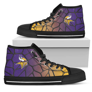 Colors Air Cushion Minnesota Vikings Gradient High Top Shoes