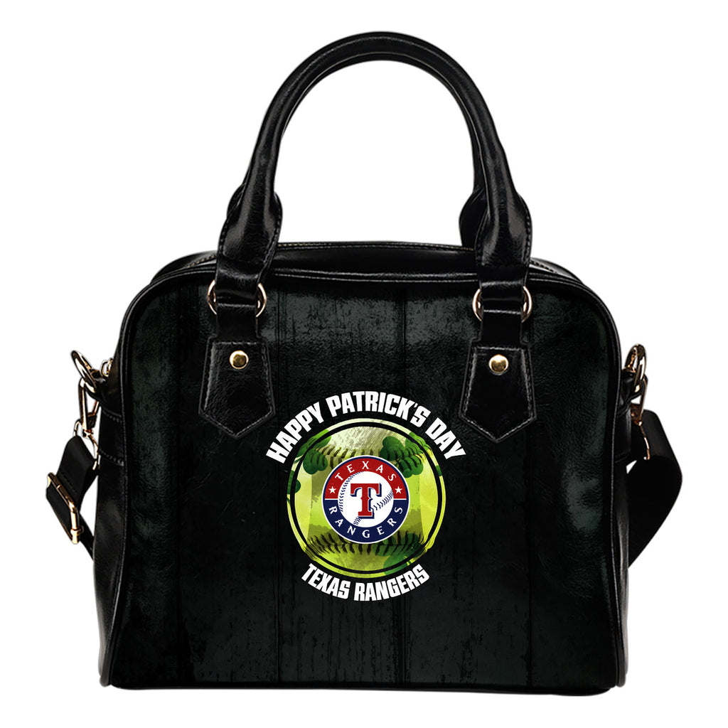 Retro Scene Lovely Shining Patrick's Day Texas Rangers Shoulder Handbags