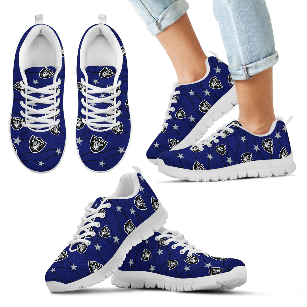 Star Twinkle Night Oakland Raiders Sneakers