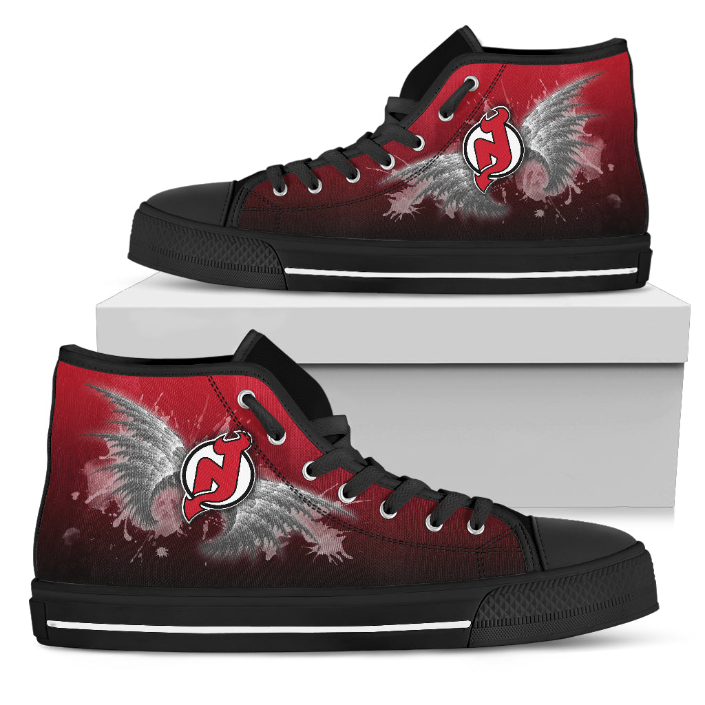 Angel Wings New Jersey Devils High Top Shoes