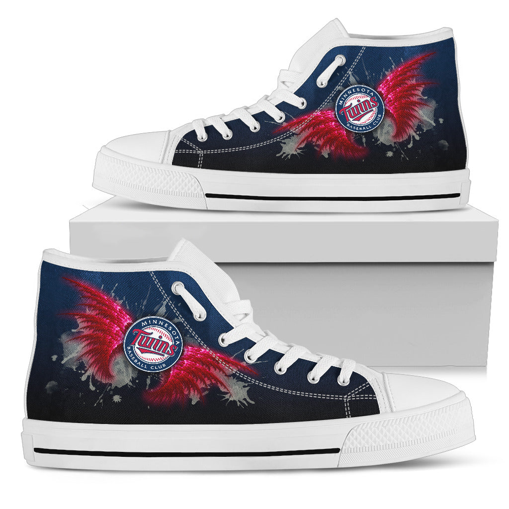 Angel Wings Minnesota Twins High Top Shoes