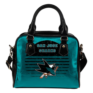 Back Fashion Round Charming San Jose Sharks Shoulder Handbags
