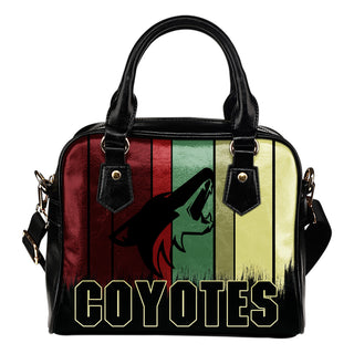 Vintage Silhouette Arizona Coyotes Purse Shoulder Handbag