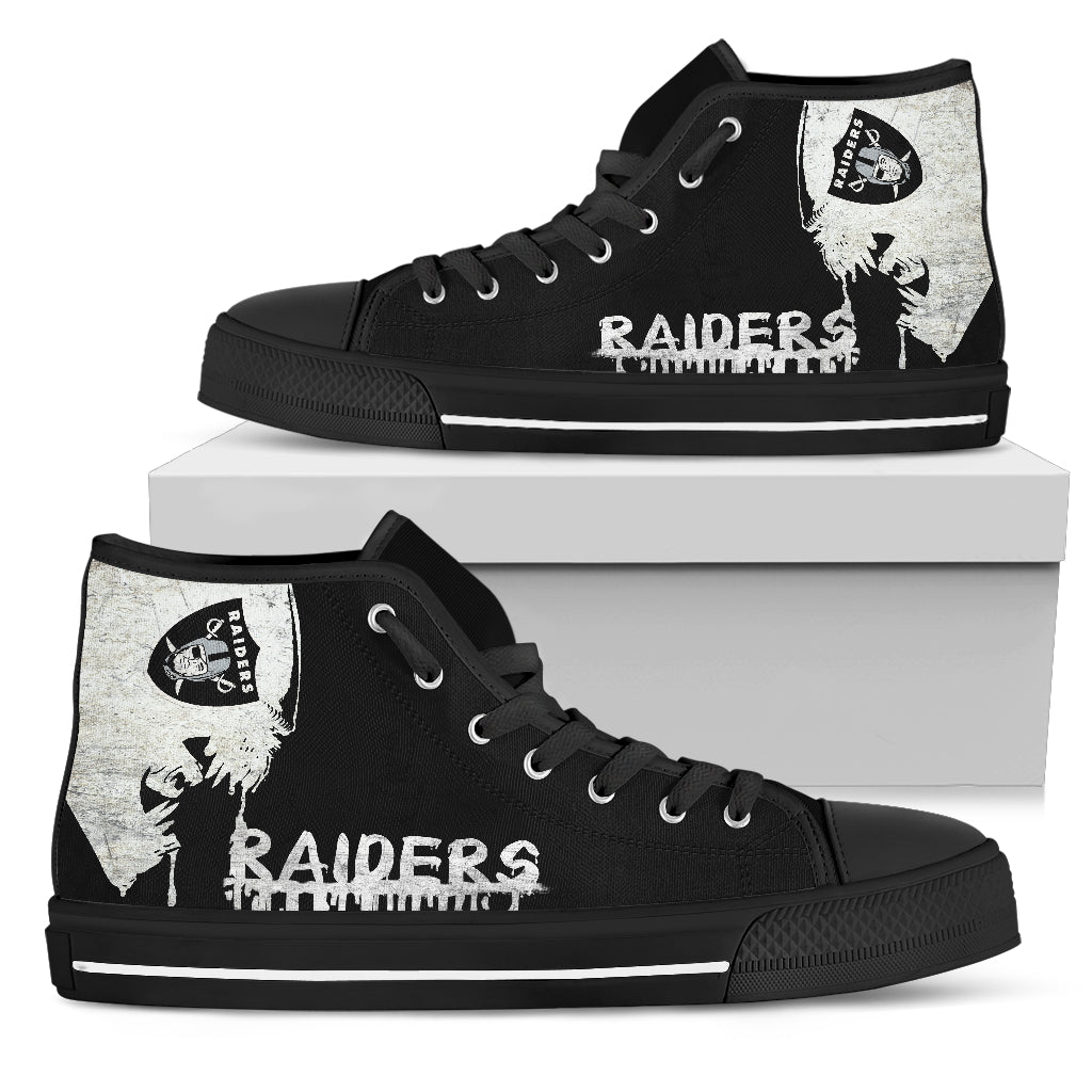 Alien Movie Oakland Raiders High Top Shoes