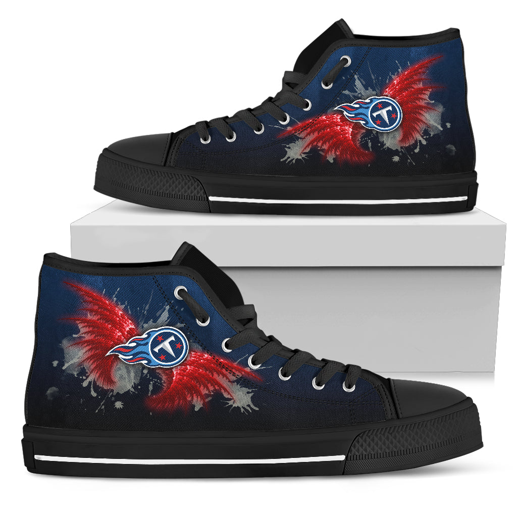 Angel Wings Tennessee Titans High Top Shoes