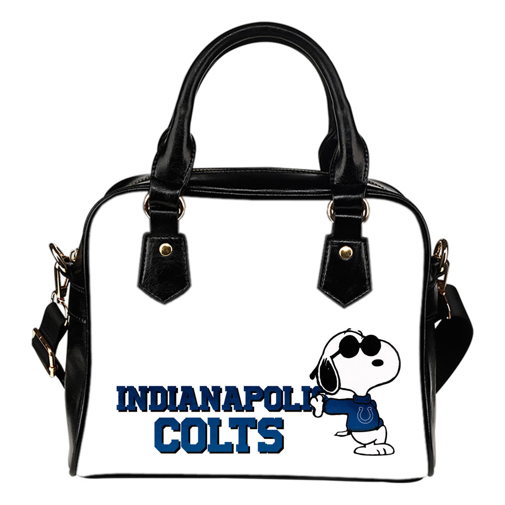 Indianapolis Colts Cool Sunglasses Snoopy Shoulder Handbags Women Purse