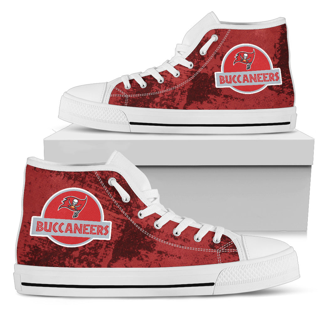 Jurassic Park Tampa Bay Buccaneers High Top Shoes
