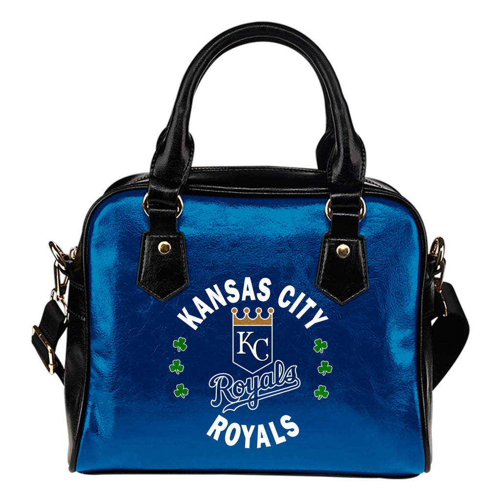 Central Beautiful Logo Circle Lucky Leaf Kansas City Royals Shoulder Handbags