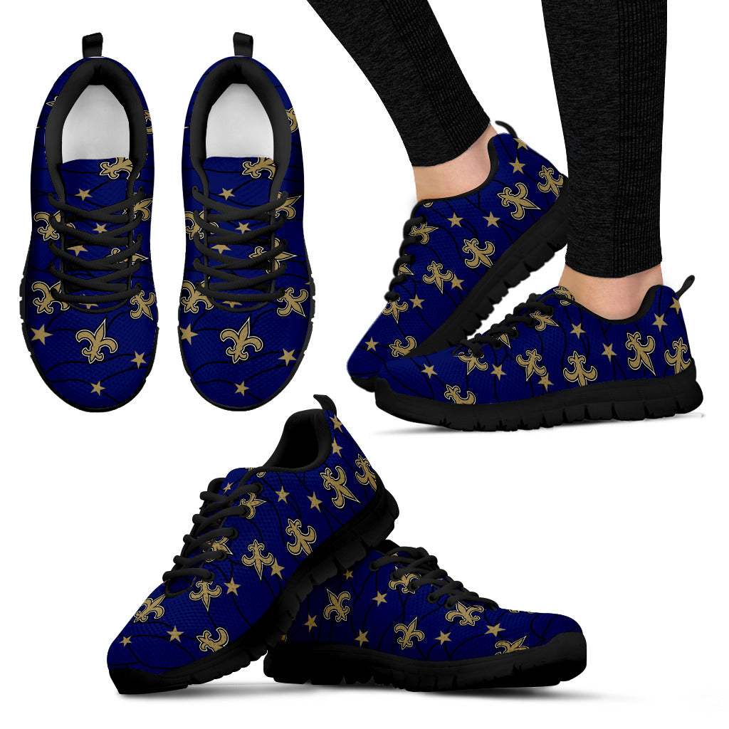Star Twinkle Night New Orleans Saints Sneakers