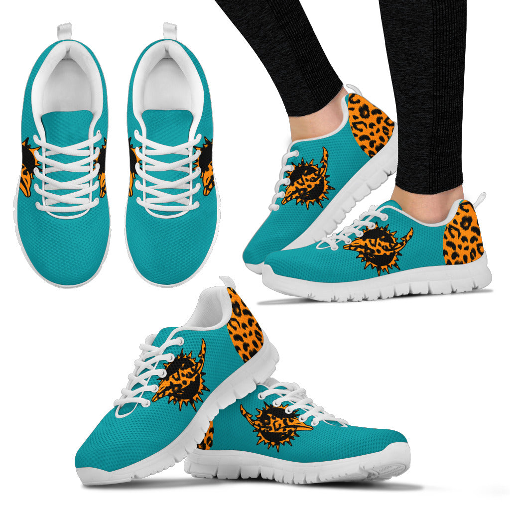 Cheetah Pattern Fabulous Miami Dolphins Sneakers