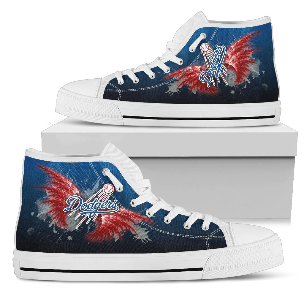 Angel Wings Los Angeles Dodgers High Top Shoes