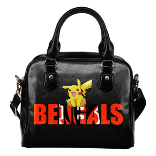 Pokemon Sit On Text Cincinnati Bengals Shoulder Handbags