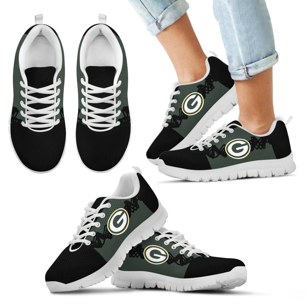 Doodle Line Amazing Green Bay Packers Sneakers V2