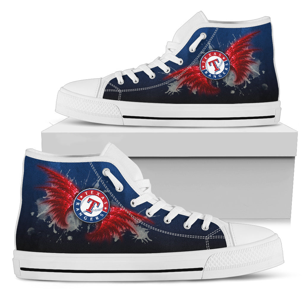 Angel Wings Texas Rangers High Top Shoes