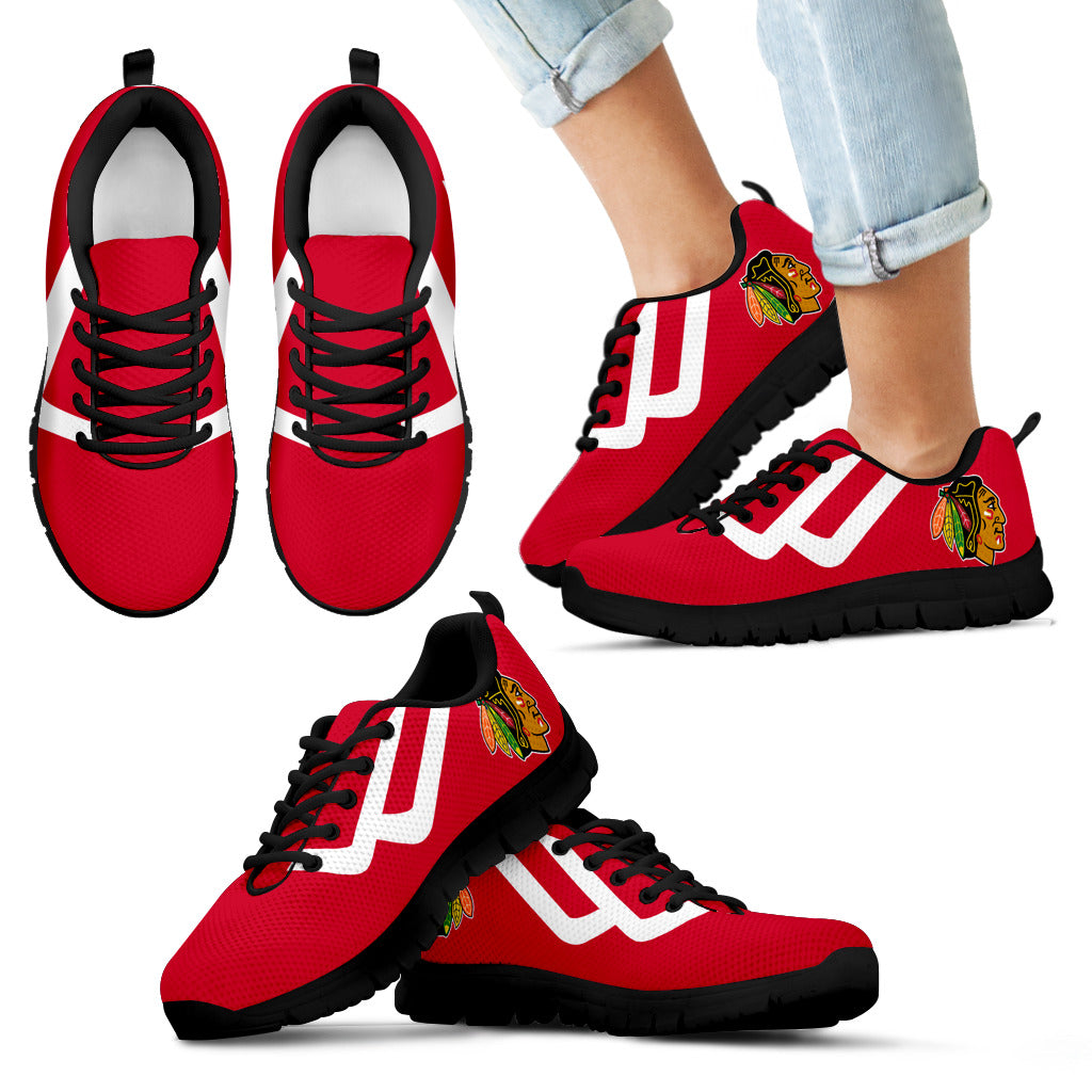 Line Bottom Straight Chicago Blackhawks Sneakers