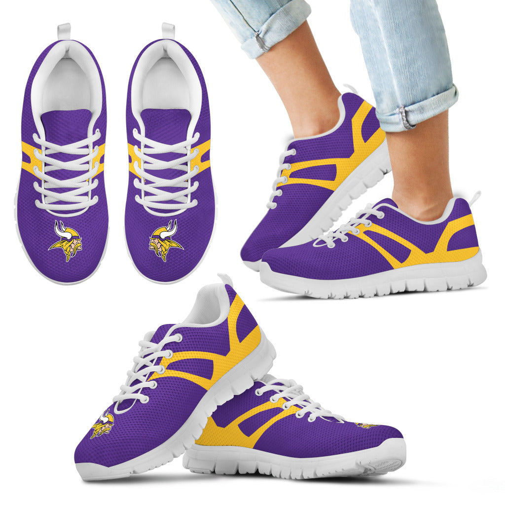 Line Amazing Bottom Minnesota Vikings Sneakers
