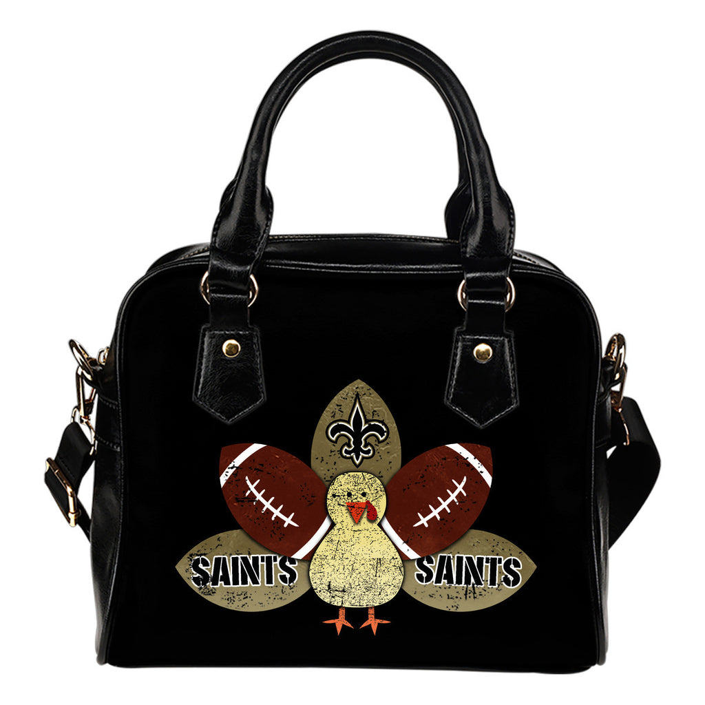 Thanksgiving New Orleans Saints Shoulder Handbags - Best Funny Store