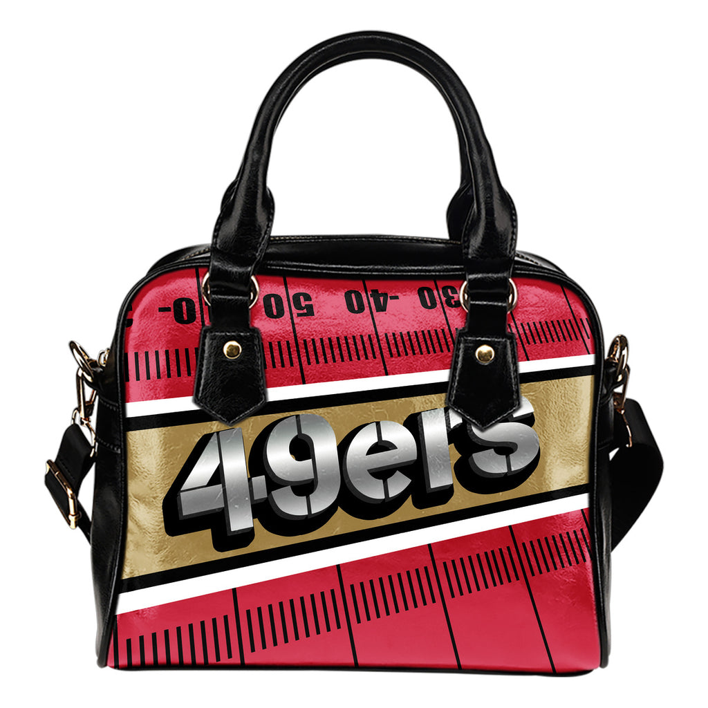 San Francisco 49ers Silver Name Colorful Shoulder Handbags