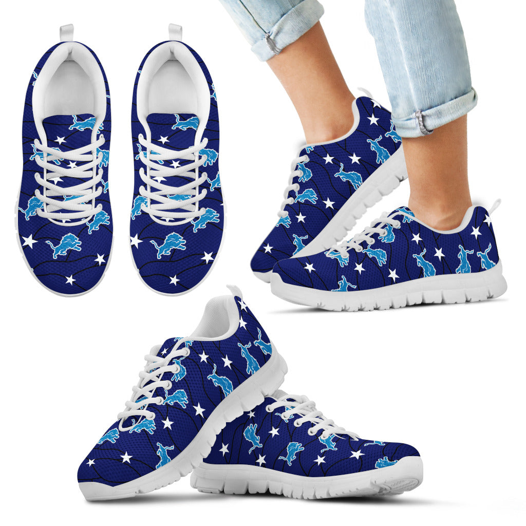 Star Twinkle Night Detroit Lions Sneakers