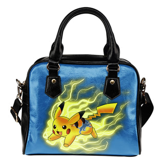 Pikachu Angry Moment Detroit Lions Shoulder Handbags