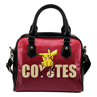 Pokemon Sit On Text Arizona Coyotes Shoulder Handbags