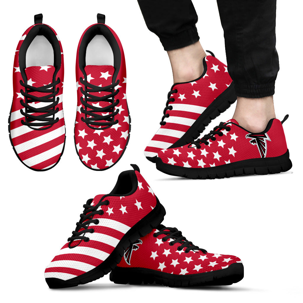 STAR AMERICA FLAG ATLANTA FALCONS SNEAKERS